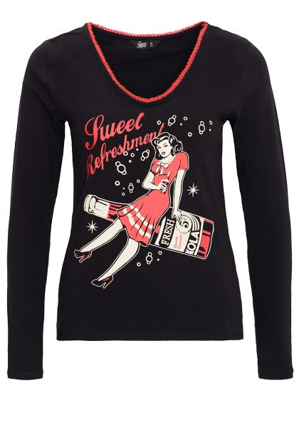 QUEEN KEROSIN Shirt mit Retro Print Sweet Refreshment