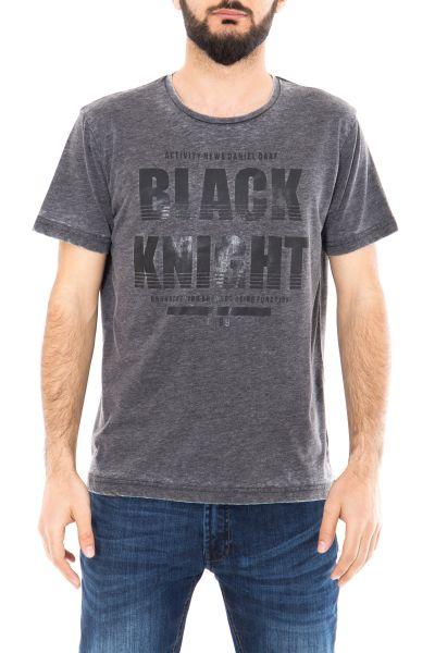 DANIEL DAAF Shirt meliert mit Frontprint
