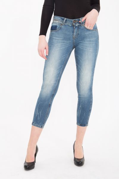ATT JEANS - Capri Jeans mit Nieten Details, Slim Fit Belinda