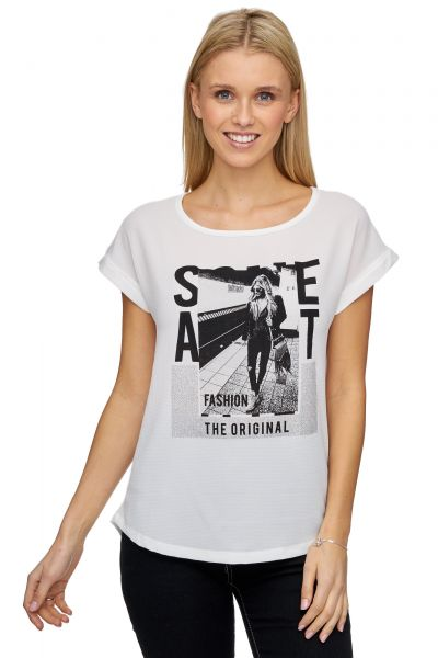 DECAY Oversize Blusen-Shirt mit Fotoprint