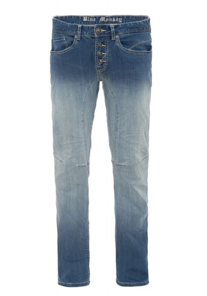 BLUE MONKEY Slim Fit Jeans im Dip Dye Look Alex 2061
