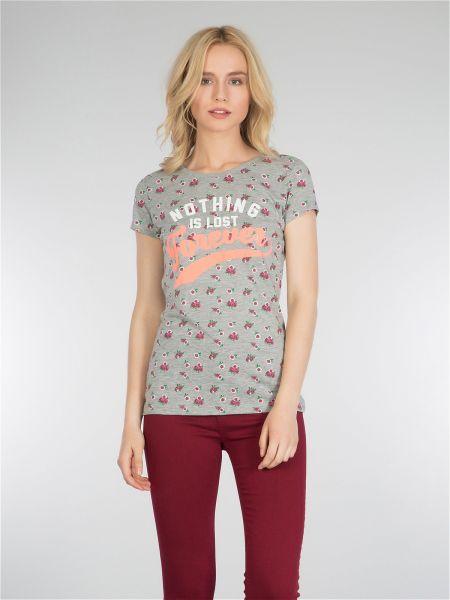 COLINS Shirt mit Alloverdruck und Slogan mit Alloverdruck und Slogan