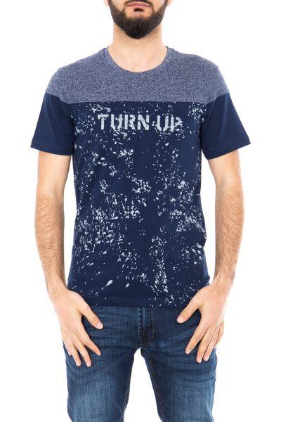 DANIEL DAAF T-Shirt zweifarbig mit Schriftprint