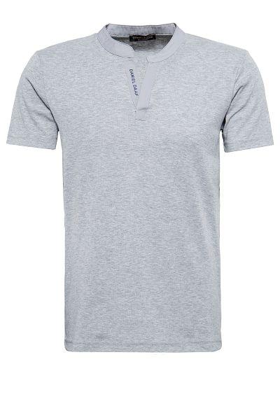DANIEL DAAF T-Shirt mit eingefasstem Serafinoausschnitt