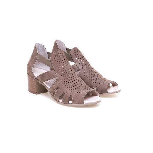 GREYDER Sandalette mit Blockabsatz und Lochperforierung
