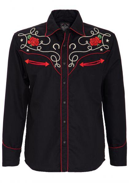 King Kerosin Langarm-Hemd im trendigen Western-Style Mexican