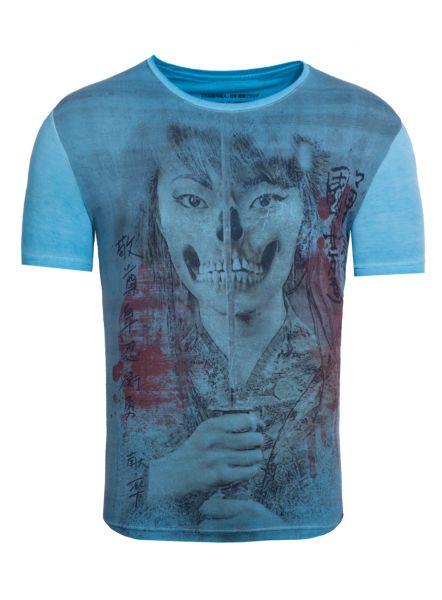 AKITO TANAKA T-Shirt mit Fotodruck vorne Geisha Skull