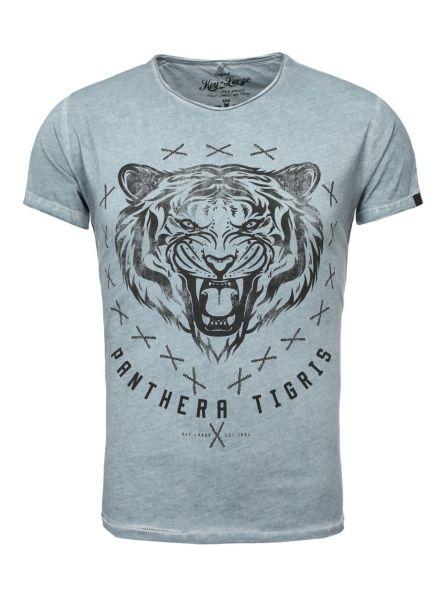 KEY LARGO Herren T-Shirt MT TIGRIS round