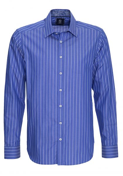 GABANO Langarmhemd mit Streifendessin, Modern Fit