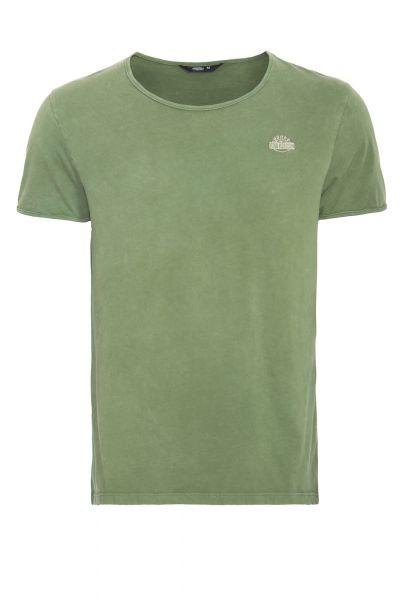 KING KEROSIN Basic T-Shirt im Used-Look