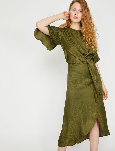 KOTON Sommerkleid mit Galzeffektmuster