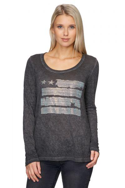 DECAY Feinstrick-Pullover mit Ziersteinen