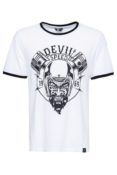 King Kerosin Shirt in angesagter Ringer-Optik Speed Devil