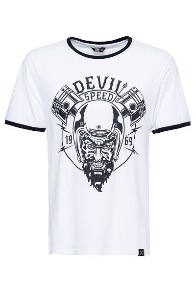 King Kerosin Shirt in angesagter Ringer-Optik Speed Devil