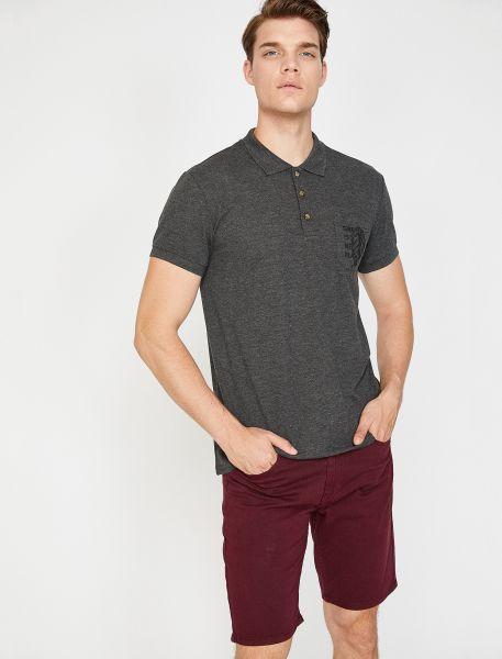 KOTON Poloshirt mit aufgesetzter Brusttasche