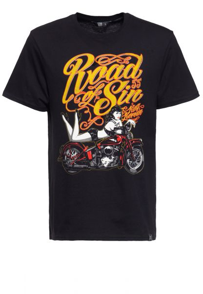 T-Shirt mit Print »Road of Sin«
