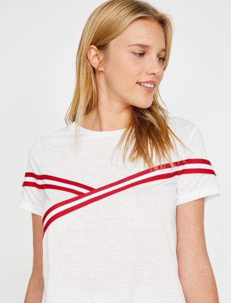 KOTON T-Shirt mit aufgesteppten Bändern