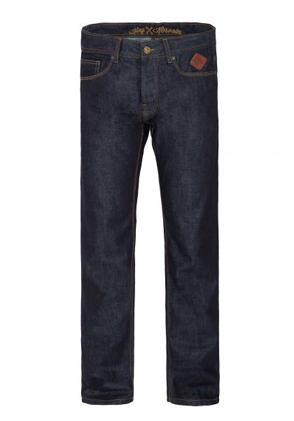 King Kerosin Regular Fit Jeans in dark blue mit Logo-Patch Robin