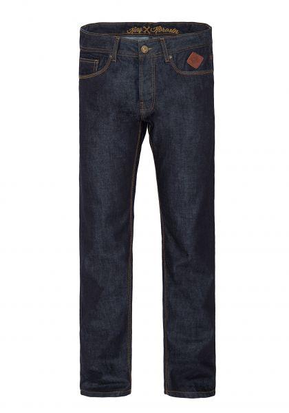 King Kerosin Regular Fit Jeans in dark blue mit Logo-Patch Robin