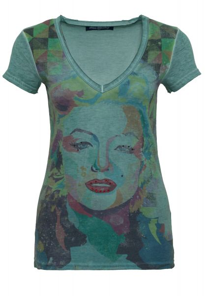 BLUE MONKEY T-Shirt mit Frontprint Marilyn Style-1 17-4919