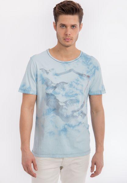MEXX T-Shirt mit Batik Waschung und Print