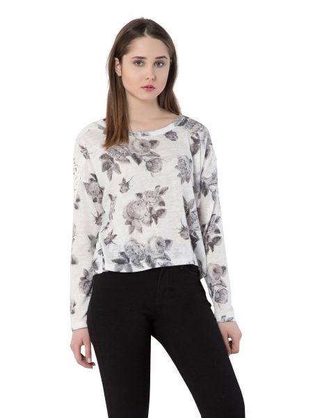 COLINS Shirt mit Allover Rosen Druck