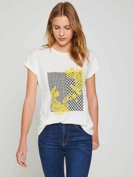 KOTON Basic T-Shirt mit großem Fronprint