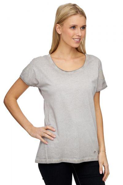 DECAY T-Shirt in Used-Optik mit Pailettenapplikation