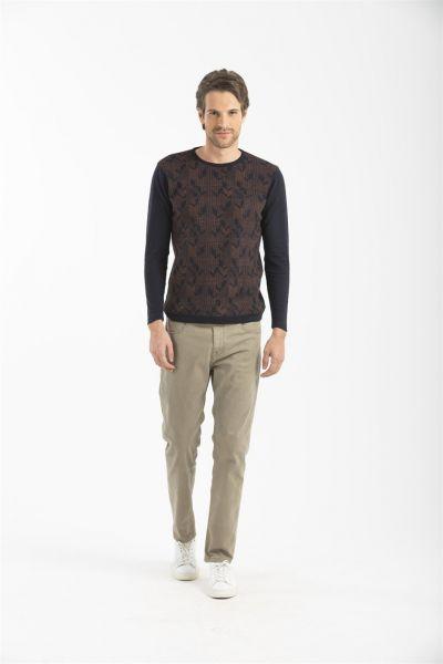 LUFIAN 5-Pocket Basic Hose in Garment Dye Carter