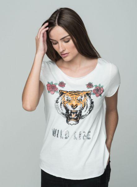 KEY LARGO Damen T-Shirt WT WILD LIFE round