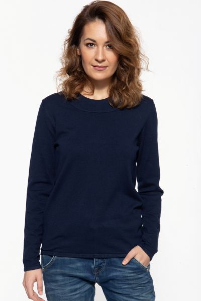 Basic Pullover mit Rundhals-Ausschnitt