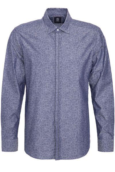 GABANO Langarmhemd mit dezentem Floralmuster