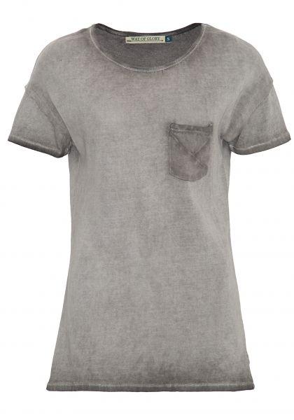 WAY OF GLORY Strickshirt mit Waschung und Brussttasche