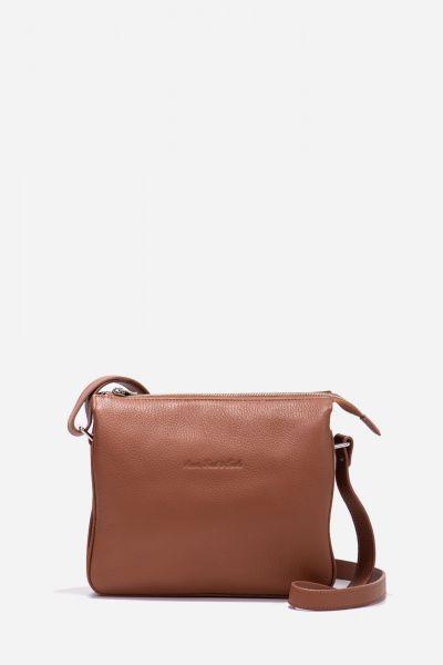 Crossbody Tasche mit drei Hauptfächern