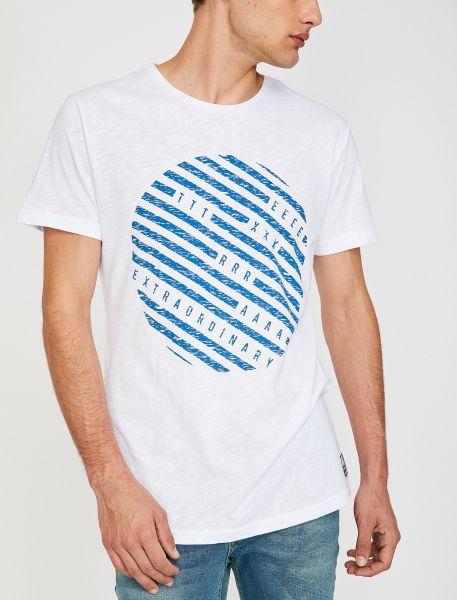 KOTON T-Shirt mit kreisförmigem Aufdruck