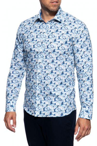 Geblümtes Hemd mit tailliertem Slim Fit