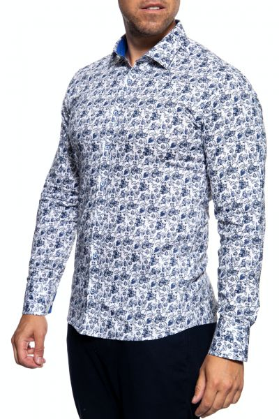 Langarm Hemd mit floralem Muster