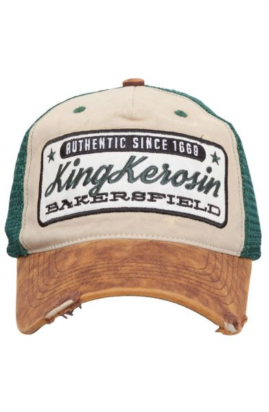 KING KEROSIN Trucker Cap im Used Look