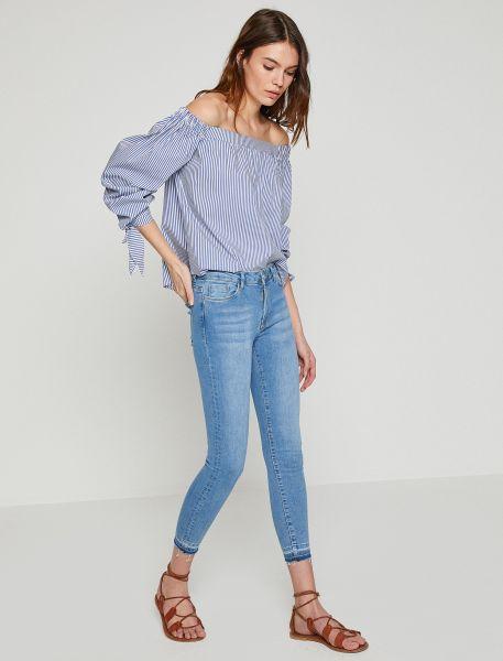 KOTON 5-Pocket Jeans mit offenen Saumkanten