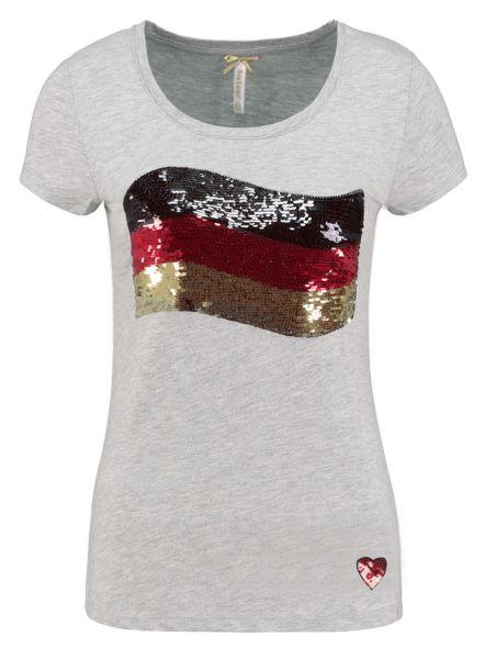 KEY LARGO Damen T-Shirt WT GERMAN FLAG round