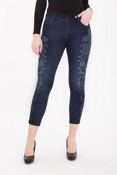 ATT JEANS Slim Fit Jeans mit tonigem Rosen Druck Leoni