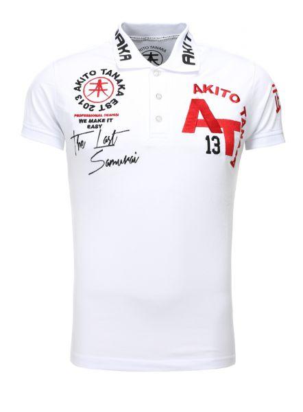 AKITO TANAKA Poloshirt mit Stickereien und Applikationen Design