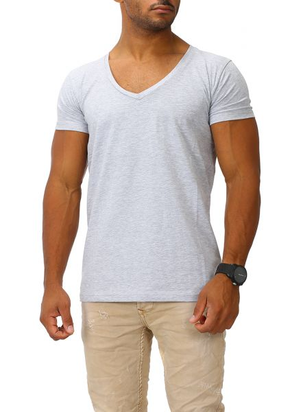Joe Franks Herren Basic T-Shirts V-Neck HIGH