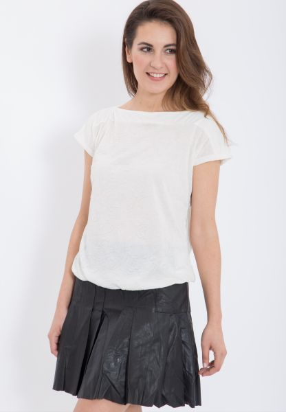 MEXX Oversize Shirt mit U-Boot Ausschnitt und floralem Muster
