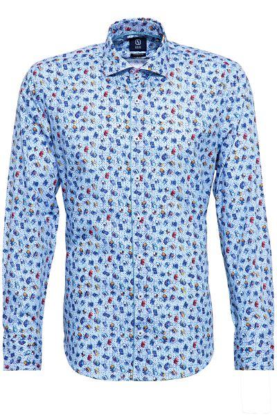 GABANO Langarmhemd mit coolem Kamera-Muster