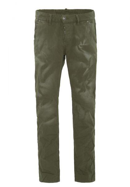 BLUE MONKEY Slim Fit Hose mit halb offener Knopfleiste und Effektdruck » Clark 2222 « Clark 2222