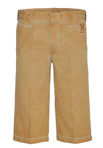 King Kerosin Workwear Shorts in Oil-Washed Optik