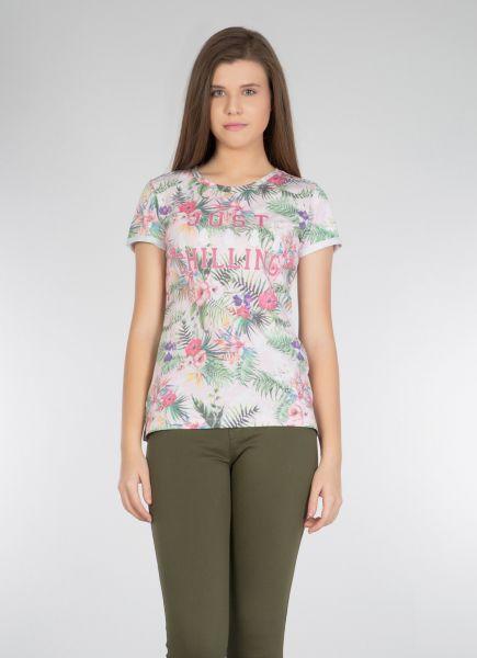 COLINS Shirt mit tropischem Alloverdruck