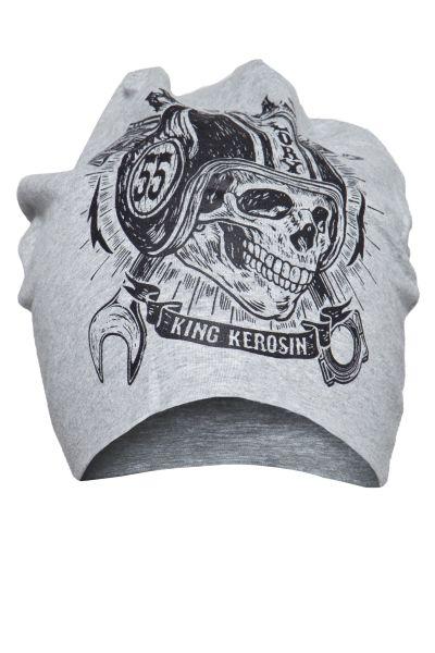 KING KEROSIN Stoffmütze mit Print in der Front No Gas No Glory