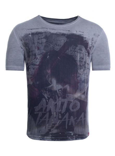 AKITO TANAKA T-Shirt mit Front Druck im Japanischen Look Tatoo Woman